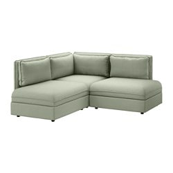 VALLENTUNA sectional 2-seat Hillared green Width 76   Depth 76  sc 1 st  Ikea : small sofa sectional - Sectionals, Sofas & Couches