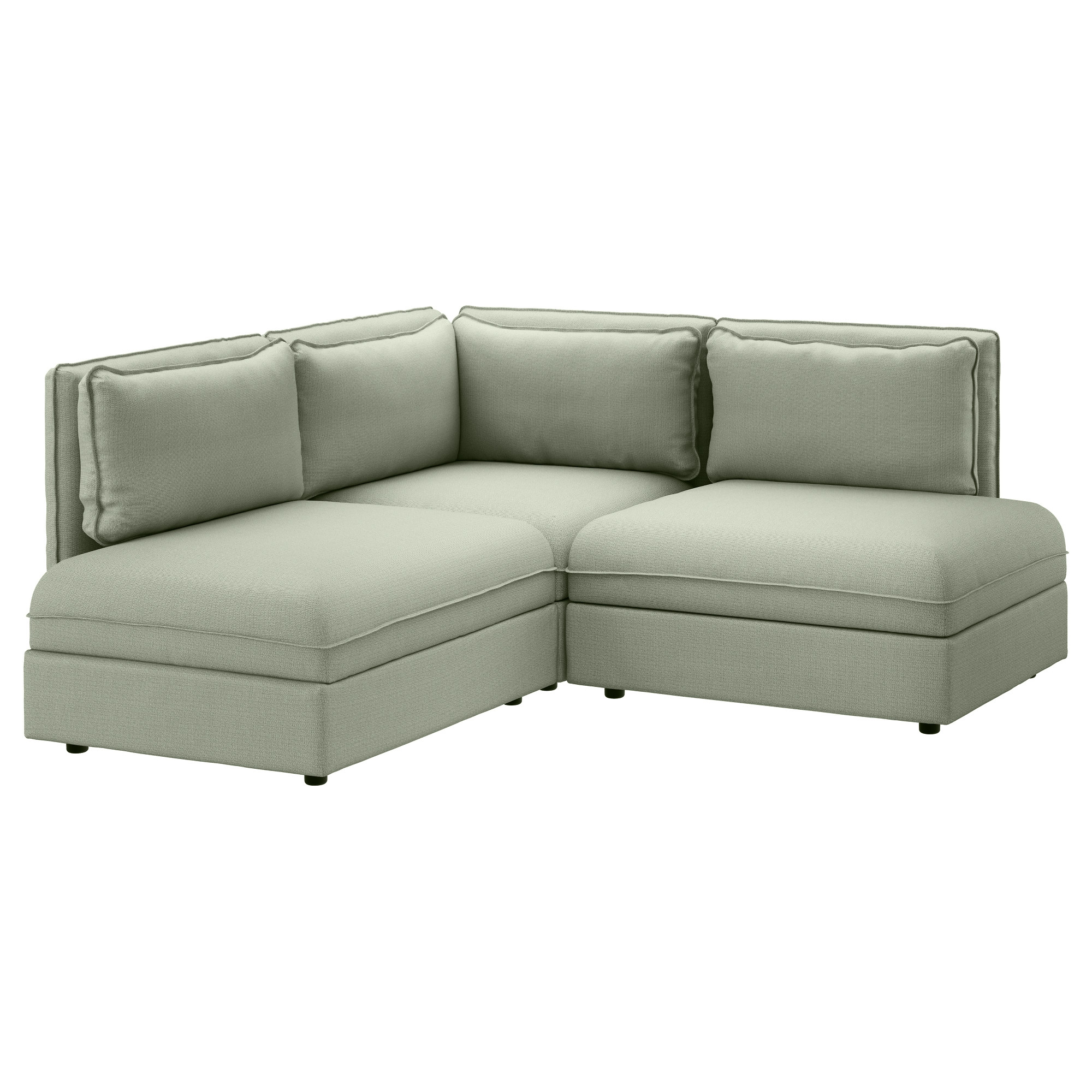 VALLENTUNA Sectional 2 seat Orrsta beige Hillared green IKEA