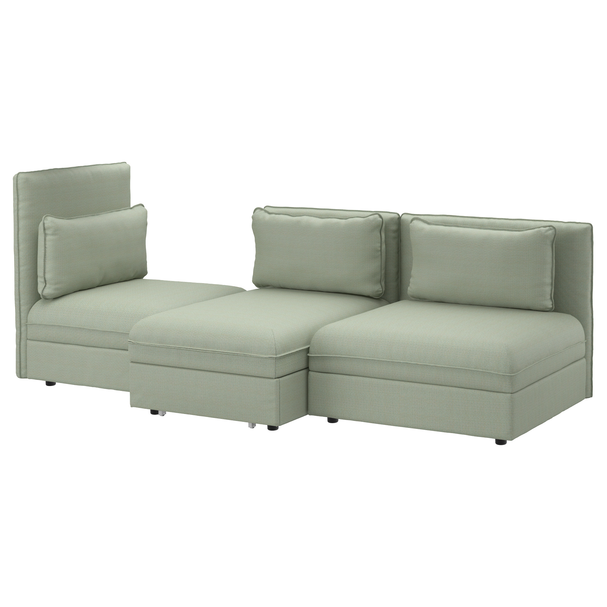 Flip chair bed ikea - Vallentuna Sleeper Sectional 3 Seat Hillared Green Width 107 1 2