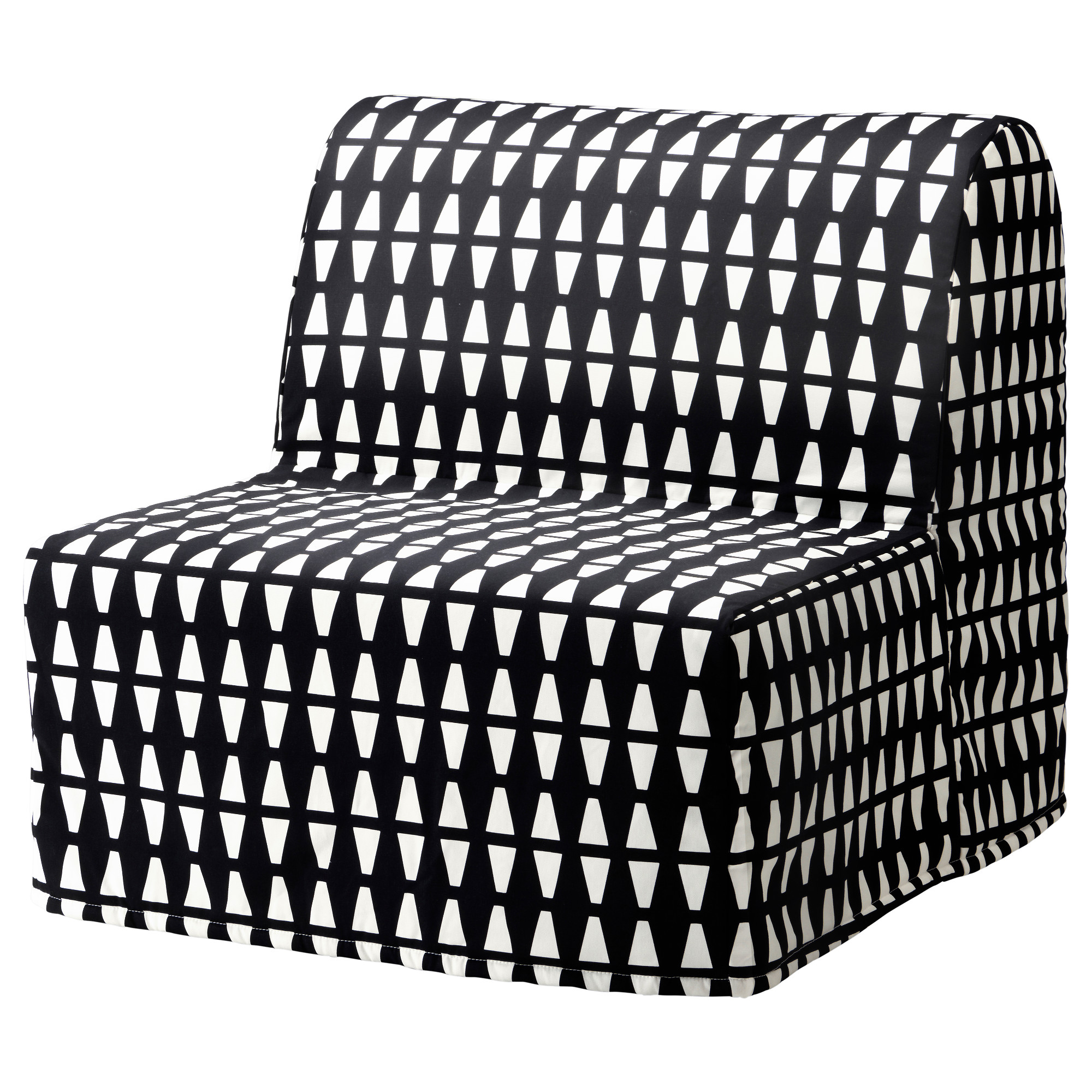 Lycksele LÖvÅs Chair Bed Ebbarp Black White