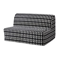 LYCKSELE LÖVÅS, Sleeper sofa, Ebbarp black/white