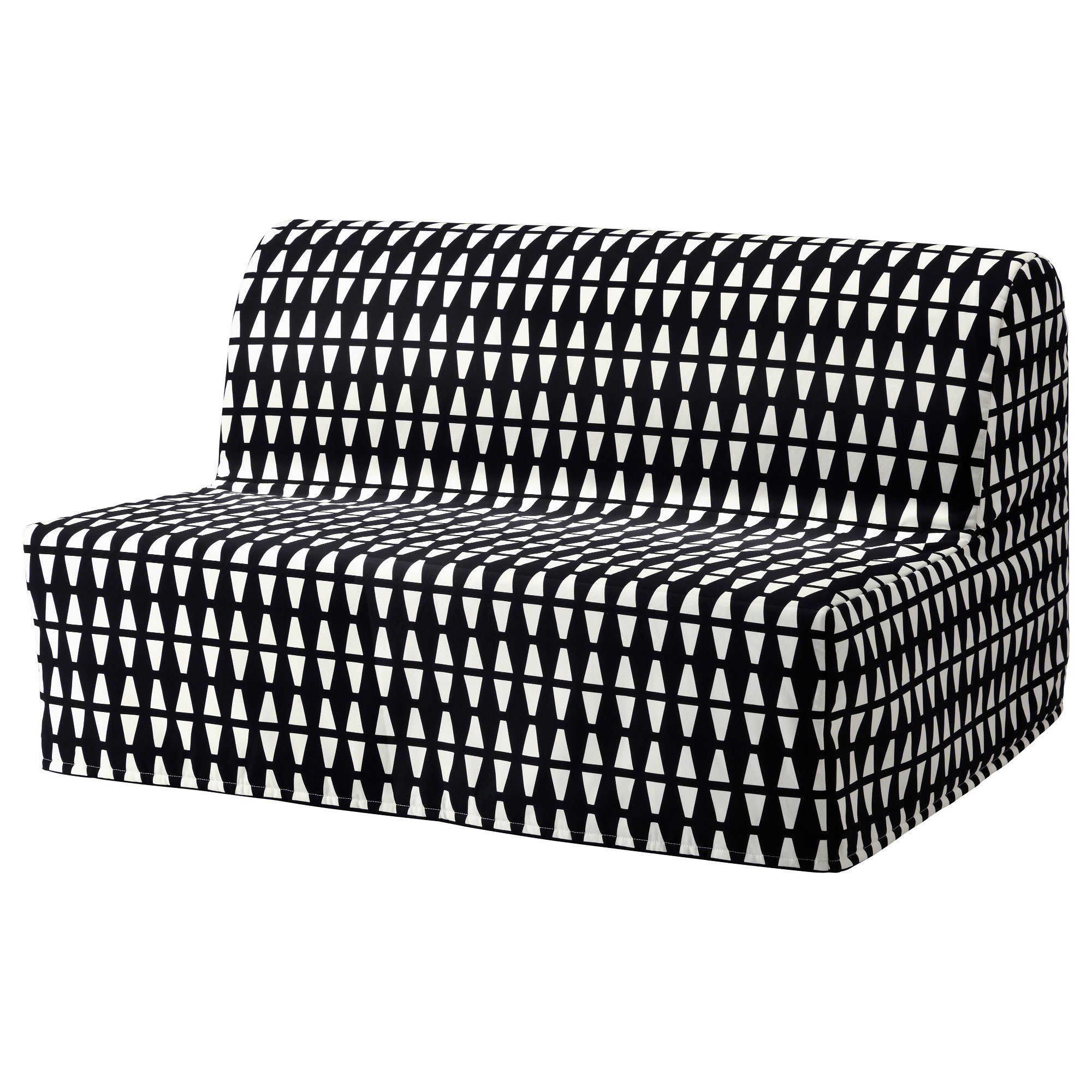 LYCKSELE Sleeper sofa slipcover Ebbarp black white IKEA