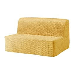 LYCKSELE sleeper sofa slipcover, Vallarum yellow