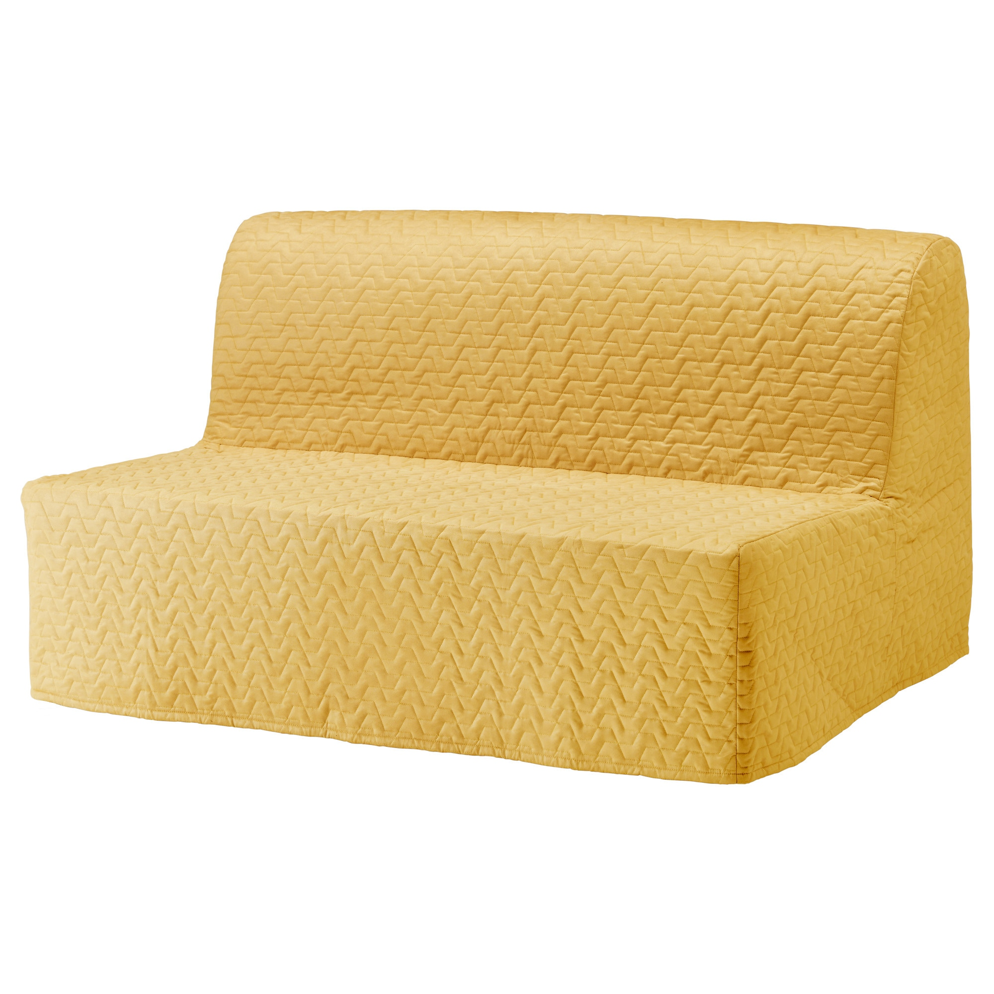 LYCKSELE Sleeper sofa slipcover Vallarum yellow IKEA