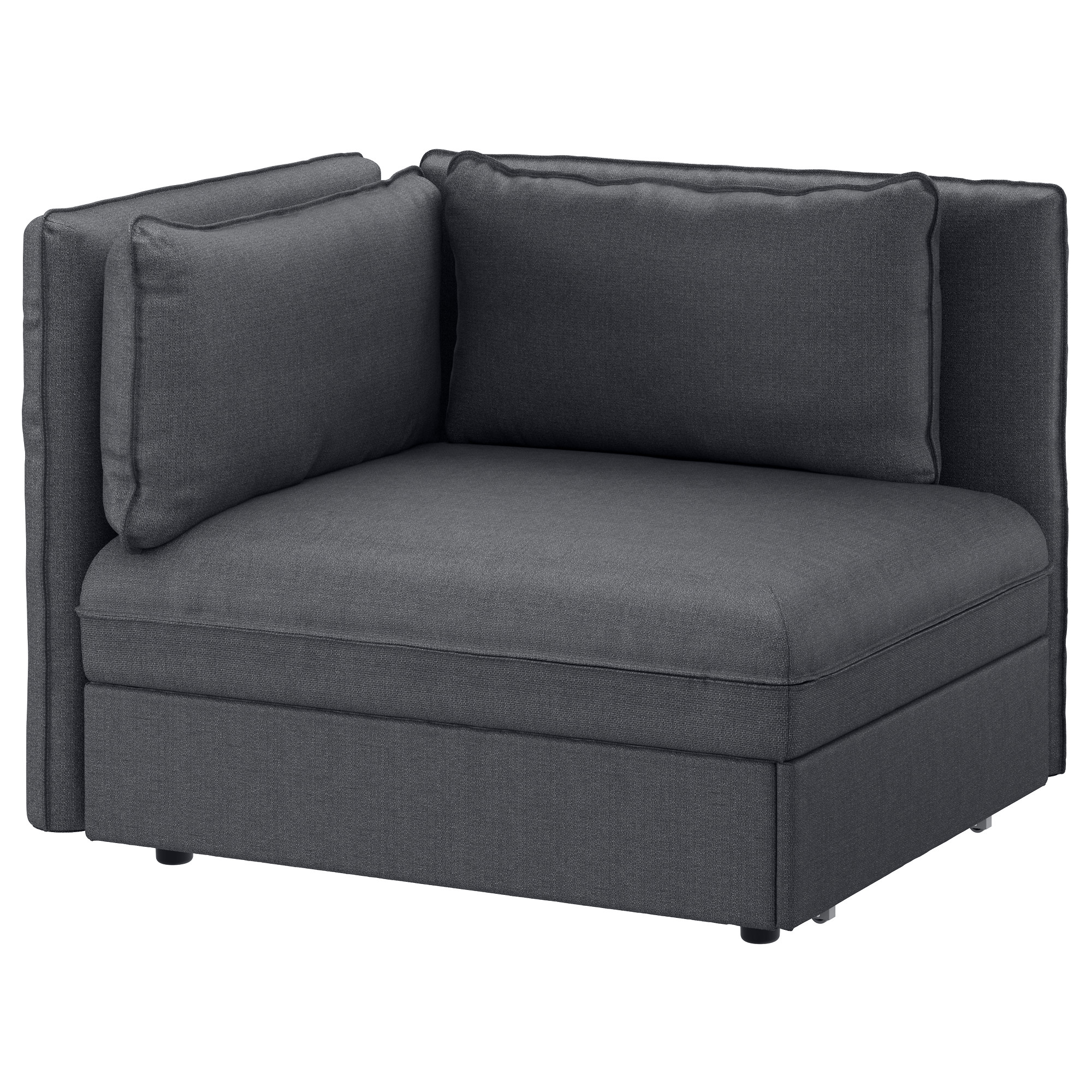 VALLENTUNA sleeper sectional, 1-seat, Hillared dark gray Width: 44 1/