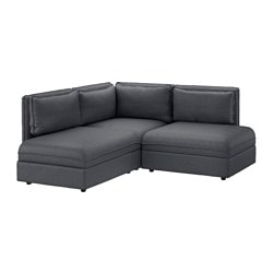 VALLENTUNA sectional 2-seat Hillared dark gray Width 76   Depth  sc 1 st  Ikea : ikea sofa with chaise - Sectionals, Sofas & Couches