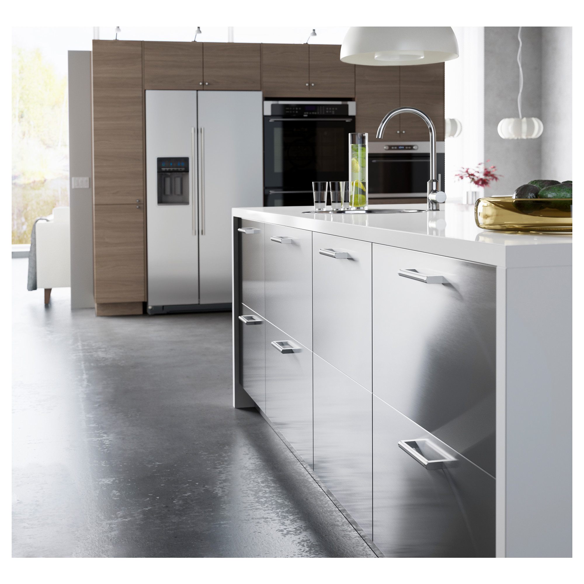 "Stainless Steel Kitchen Cabinet Doors Grevsta Door  18X30 ""  Ikea"