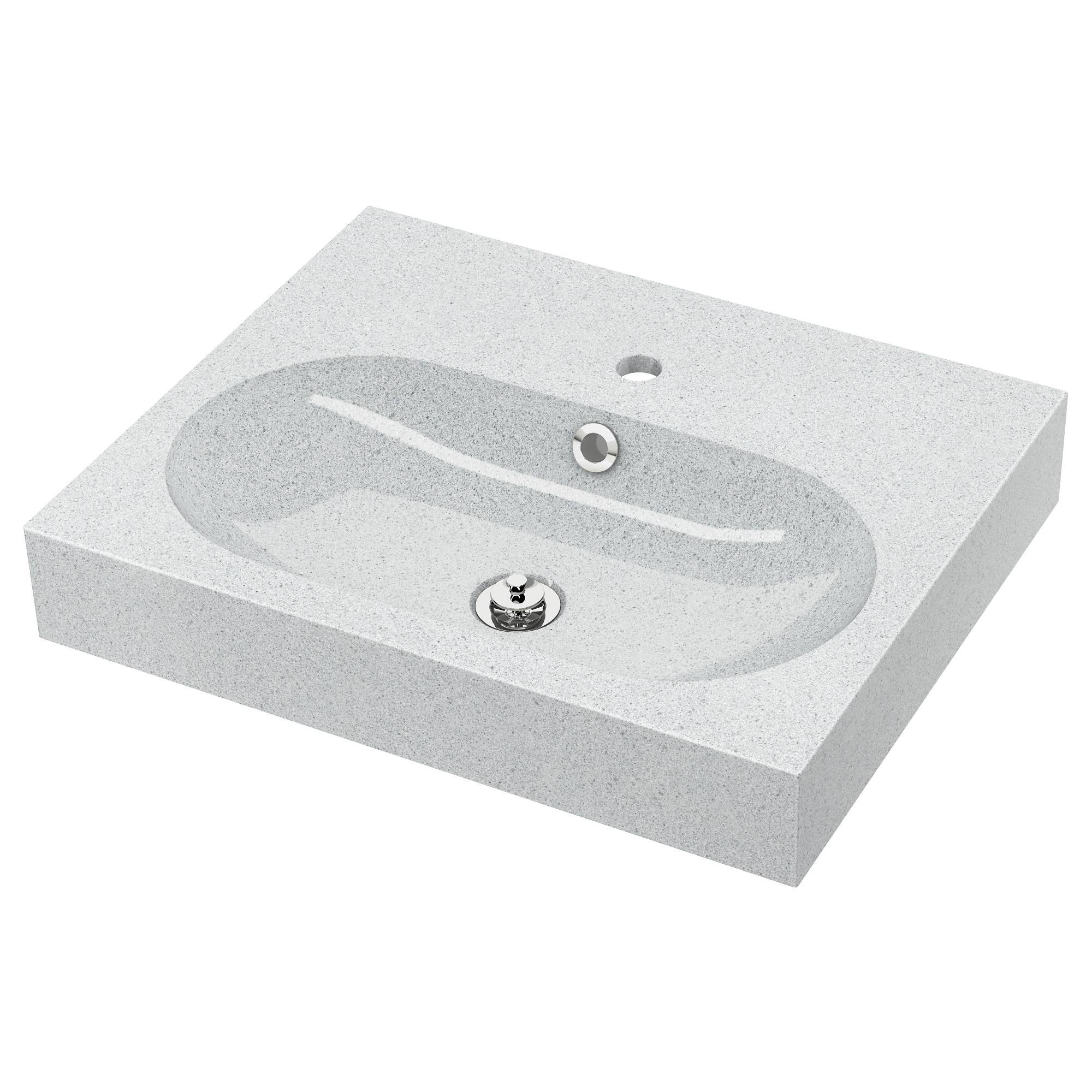 Awesome brviken lavabo gris clair pierre largeur cm for Evier resine rond