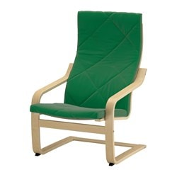 POÄNG armchair cushion, Sandbacka green Length: 137 cm Width: 56 cm Thickness: 7 cm