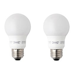 RYET LED bulb E26 400 lumen, globe opal white Luminous flux: 400 lm Power: 5 W Package quantity: 2 pack