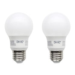 RYET LED bulb E26 400 lumen, globe opal white Luminous flux: 400 lm Power: 5 W Package quantity: 2 pack Luminous flux: 400 lm Power: 5 W Package quantity: 2 pack
