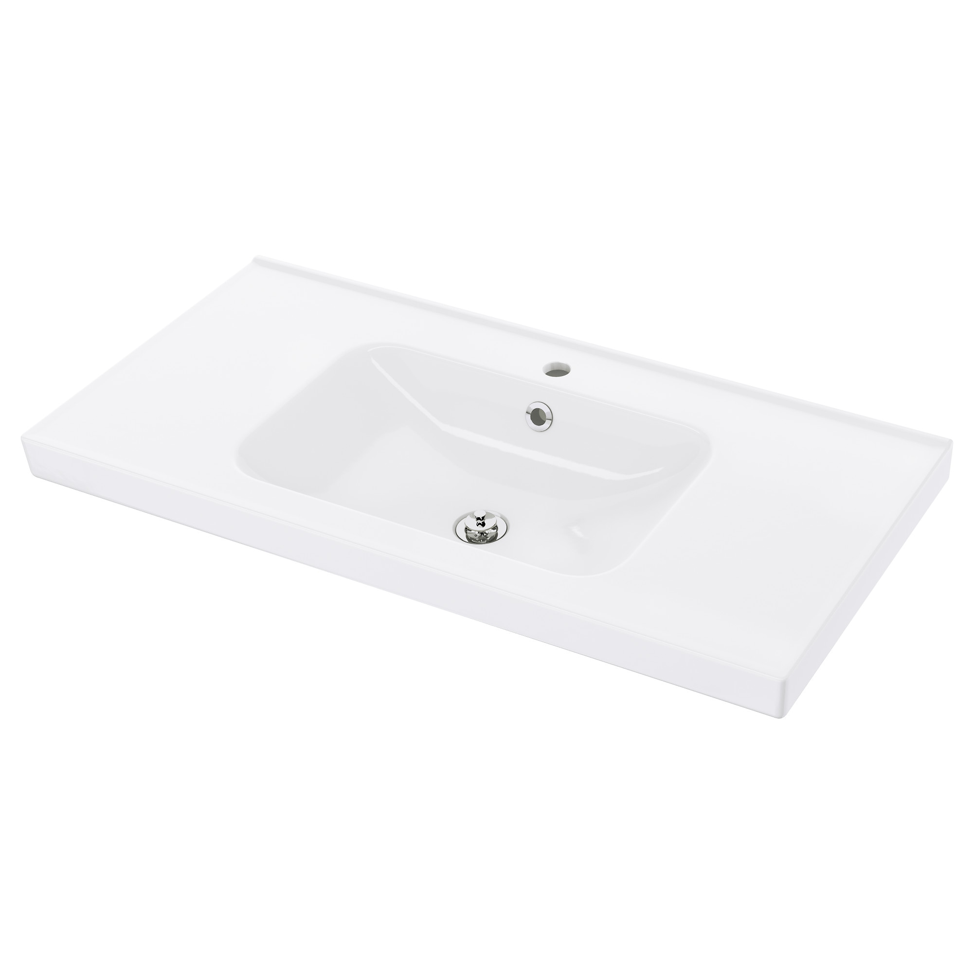 Single bathroom sink with two faucets - Odensvik Sink Width 40 1 2 Sink Cabinet Width 39 3