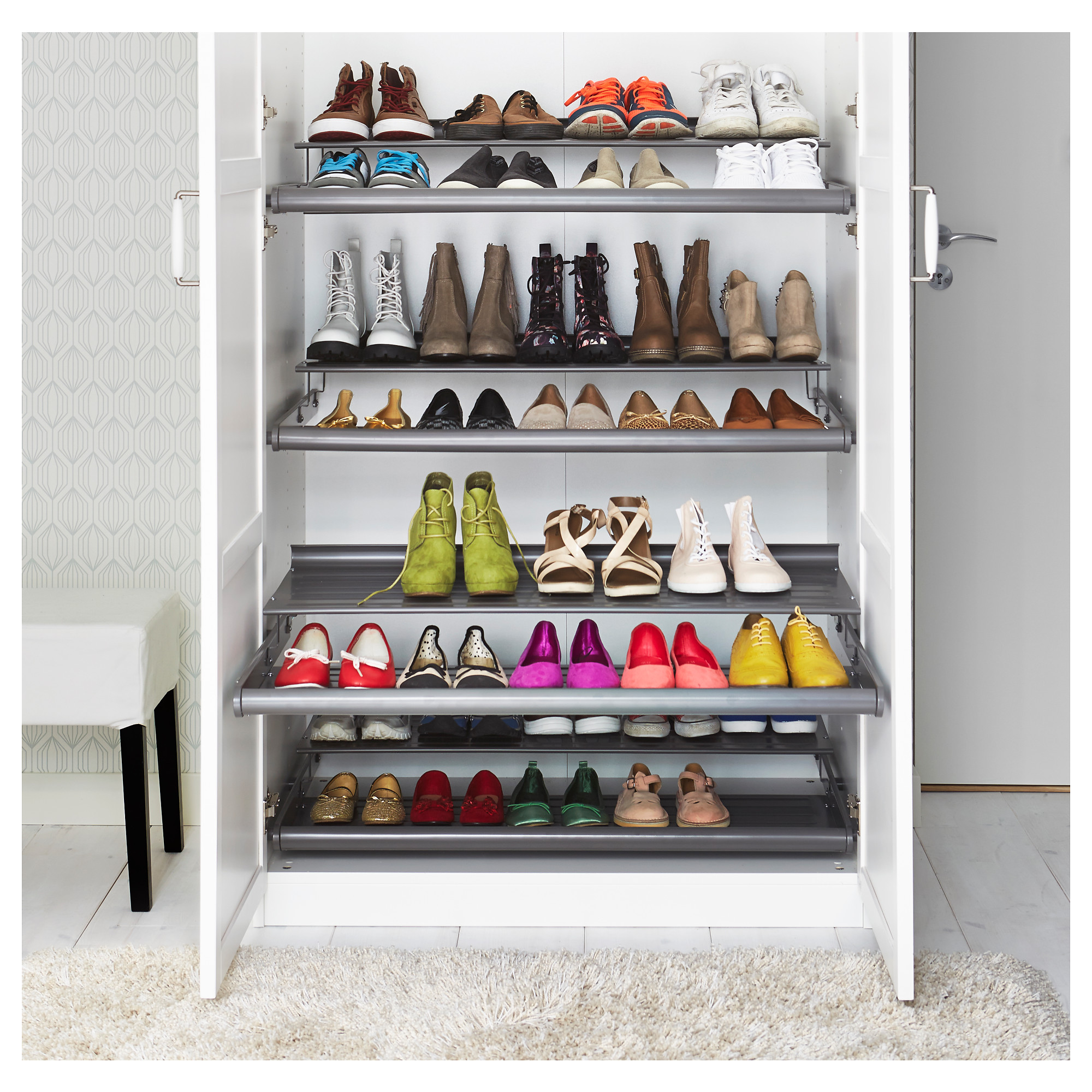 uncategorized slide out shoe rack purecolonsdetoxreviews home design. Black Bedroom Furniture Sets. Home Design Ideas