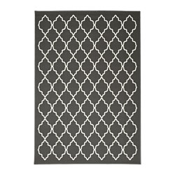 HOVSLUND rug, low pile, dark grey