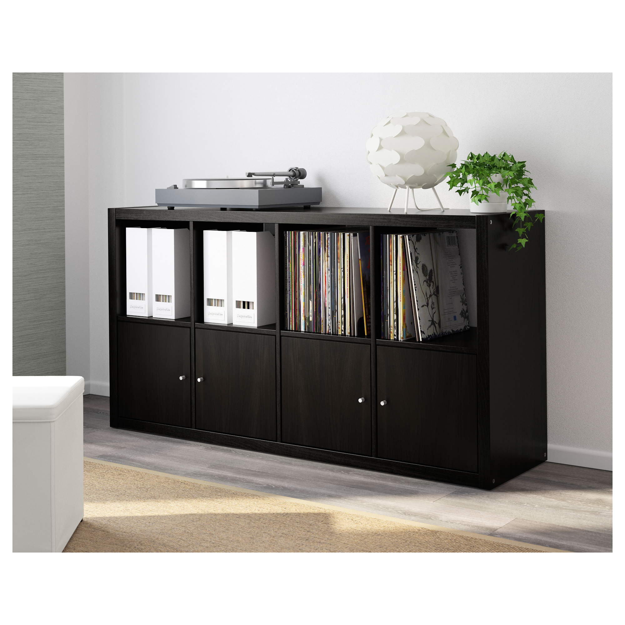 Ikea regal kallax 2x4  KALLAX Shelf unit - black-brown - IKEA
