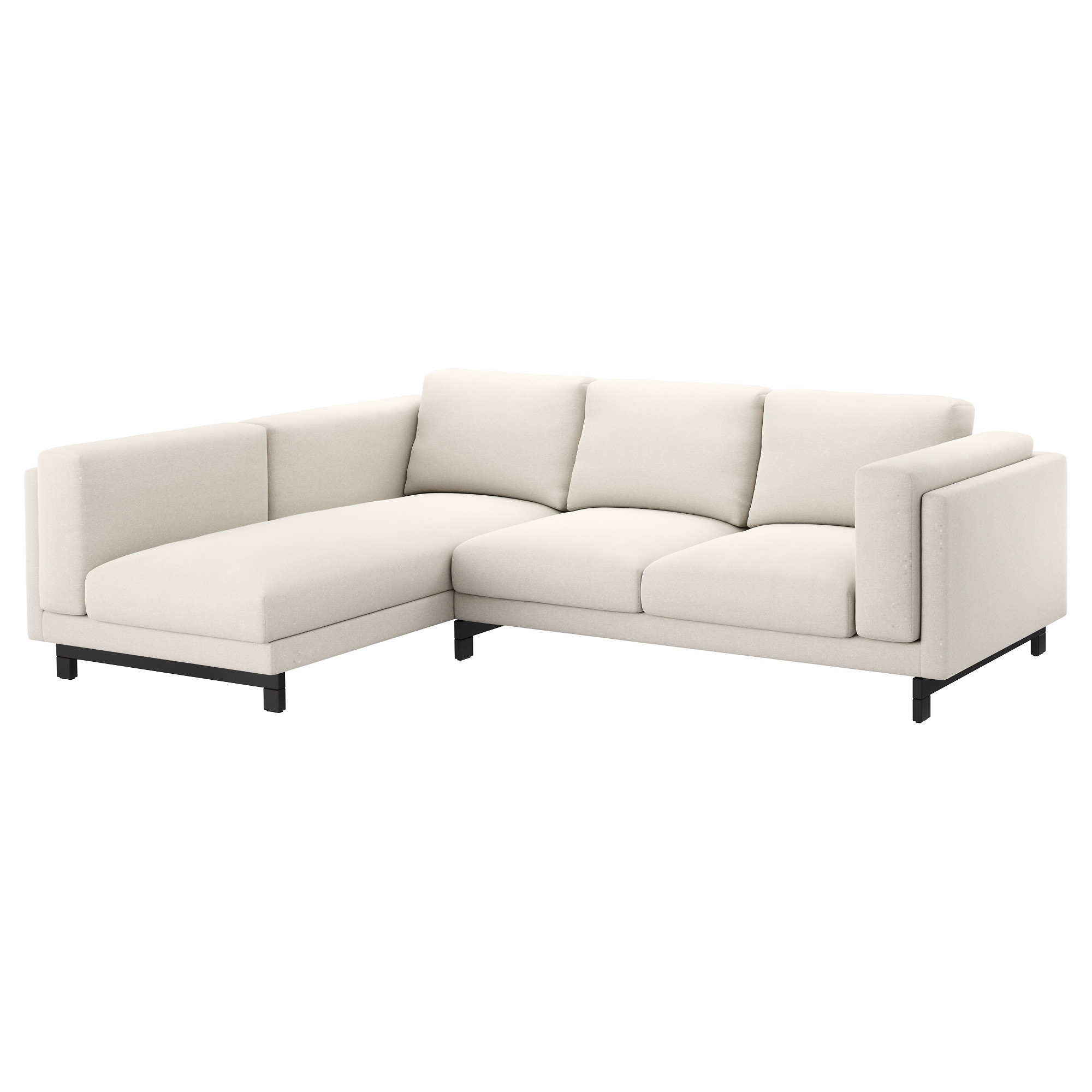2er sofa ikea  NOCKEBY Sofa - left/Tallmyra light beige, with chaise/wood - IKEA