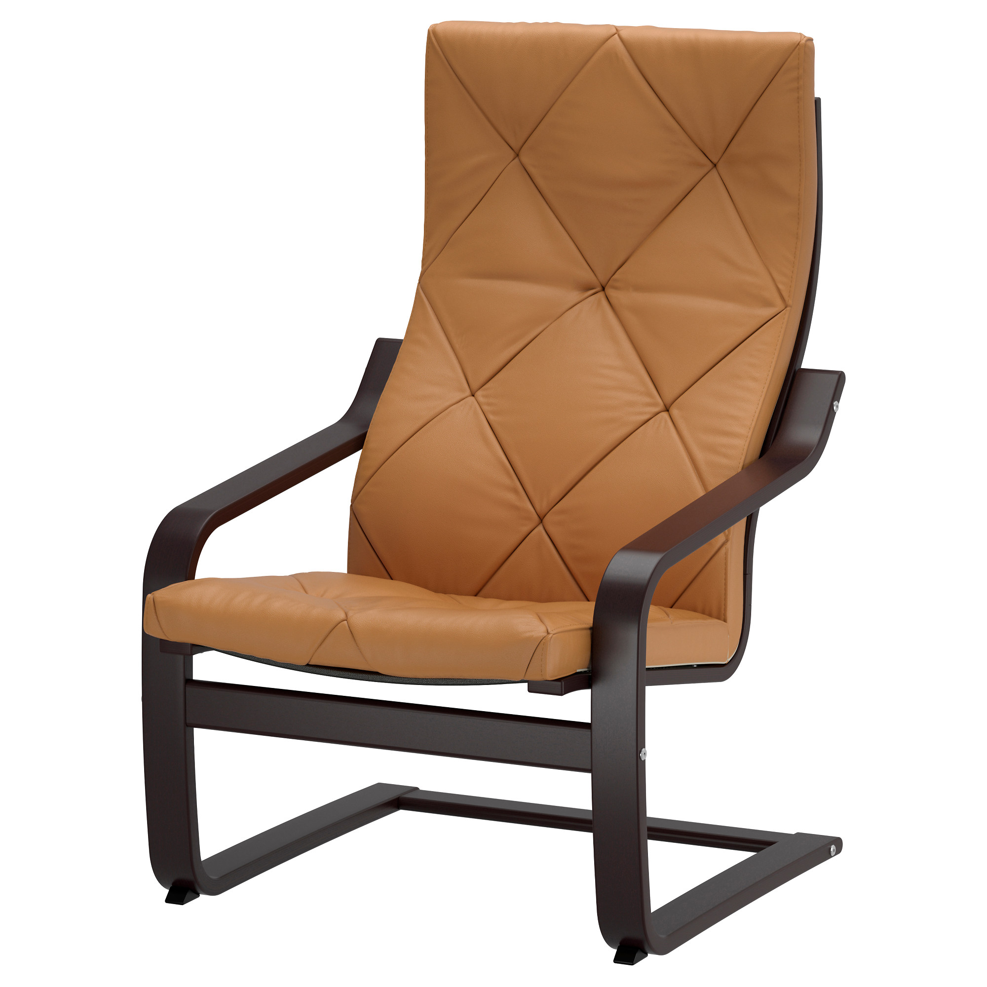 Ikea leather chair brown - Po Ng Armchair Black Brown Seglora Natural Width 26 3 4