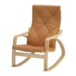 POÄNG rocking-chair, birch veneer, Seglora natural Width: 68 cm Depth: 82 cm Height: 100 cm