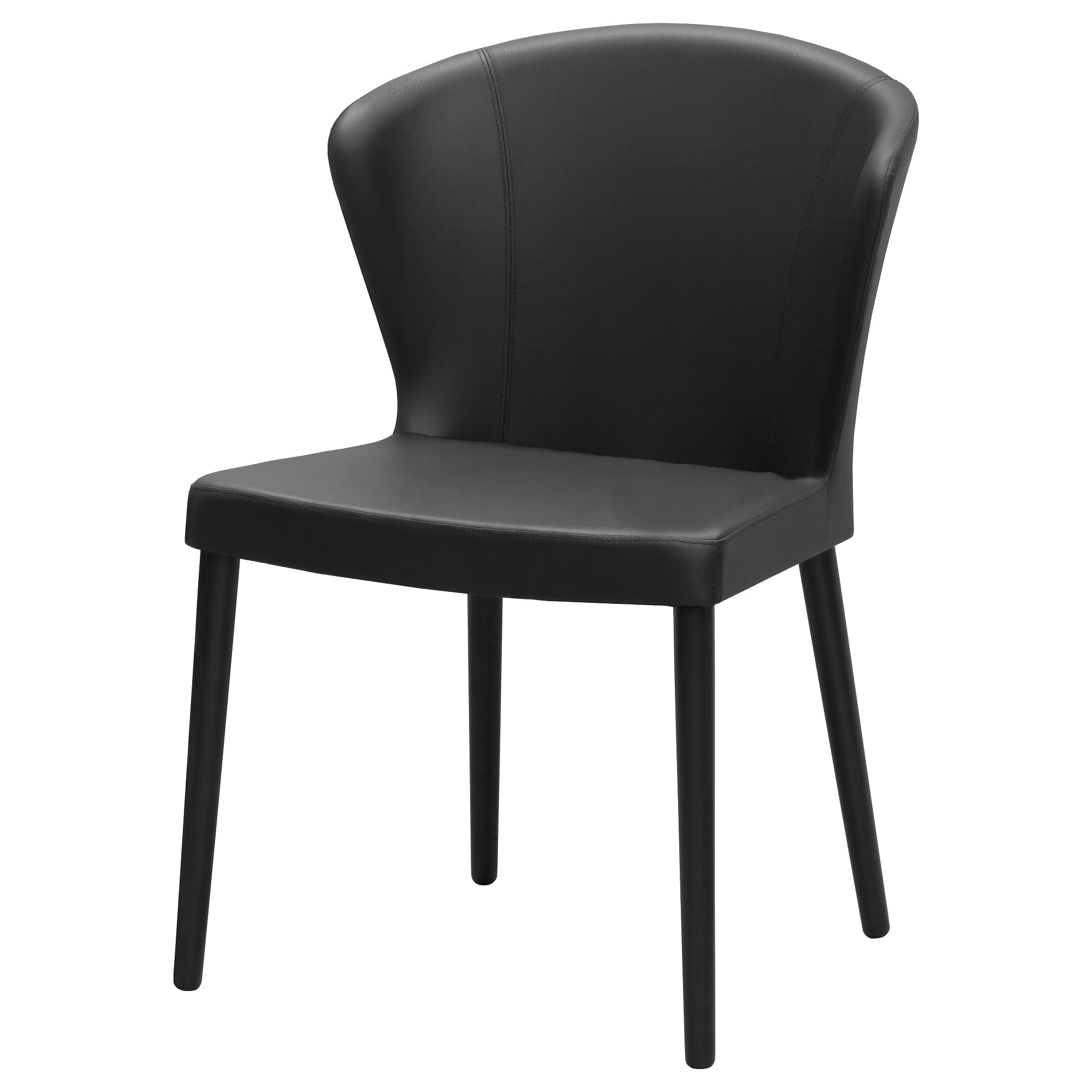 Black chair and white chair - Oddmund Chair Idhult Black Stained Idhult Black Width 22 Depth 18