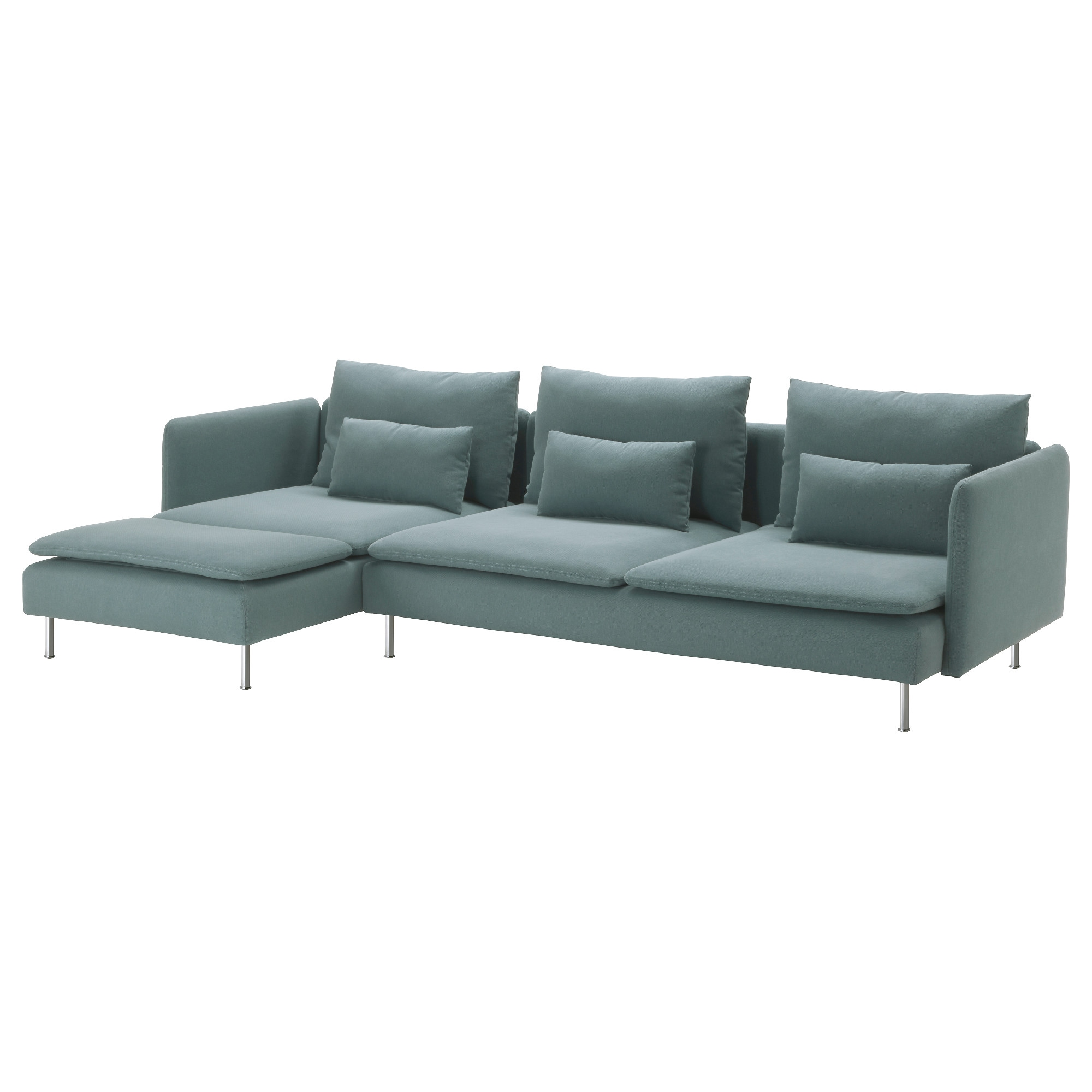 SÖDERHAMN sectional 4-seat Finnsta with chaise Finnsta turquoise Width 114  sc 1 st  Ikea : sectional sofas images - Sectionals, Sofas & Couches