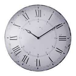 "BITNIK wall clock, metal white Diameter: 13 ¾ "" Diameter: 35 cm"