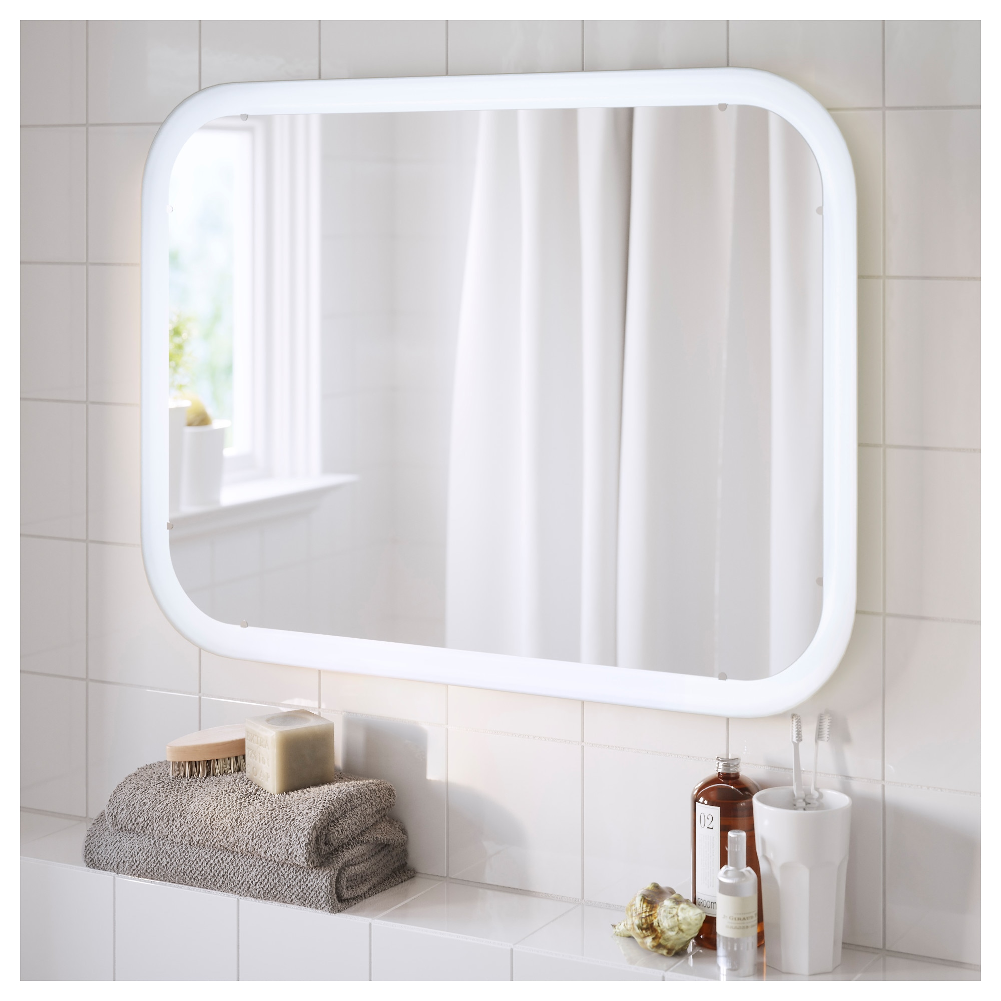 Bathroom Mirrors With Lights Built In storjorm mirror with built-in light - ikea