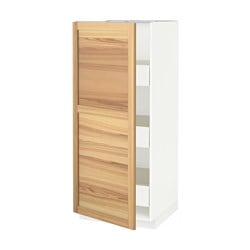 METOD /  FÖRVARA high cabinet with drawers, Torhamn ash, white Width: 60.0 cm Depth: 62.0 cm Frame, depth: 60.0 cm