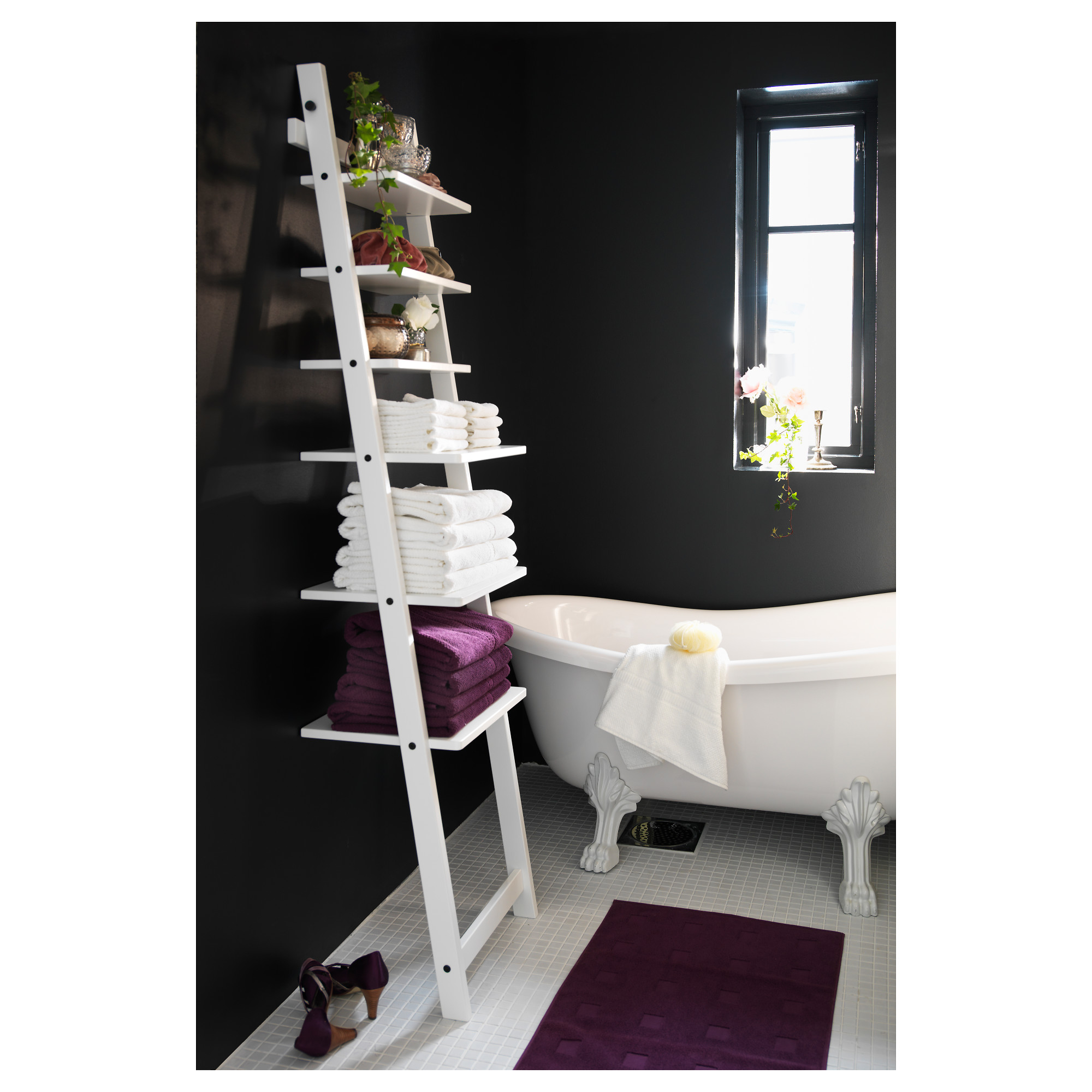 bathroom etagere pleasant home design. Black Bedroom Furniture Sets. Home Design Ideas