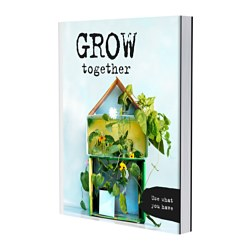 "ÅTERGE - GROW TOGETHER book Width: 7 ½ "" Height: 9 ½ "" Width: 19 cm Height: 24 cm"