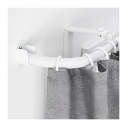 RÄCKA curtain rod corner connector, white Length: 24.2 cm
