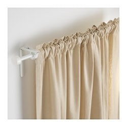 RÄCKA curtain rod, white Min. length: 120 cm Max. length: 210 cm Diameter: 19 mm