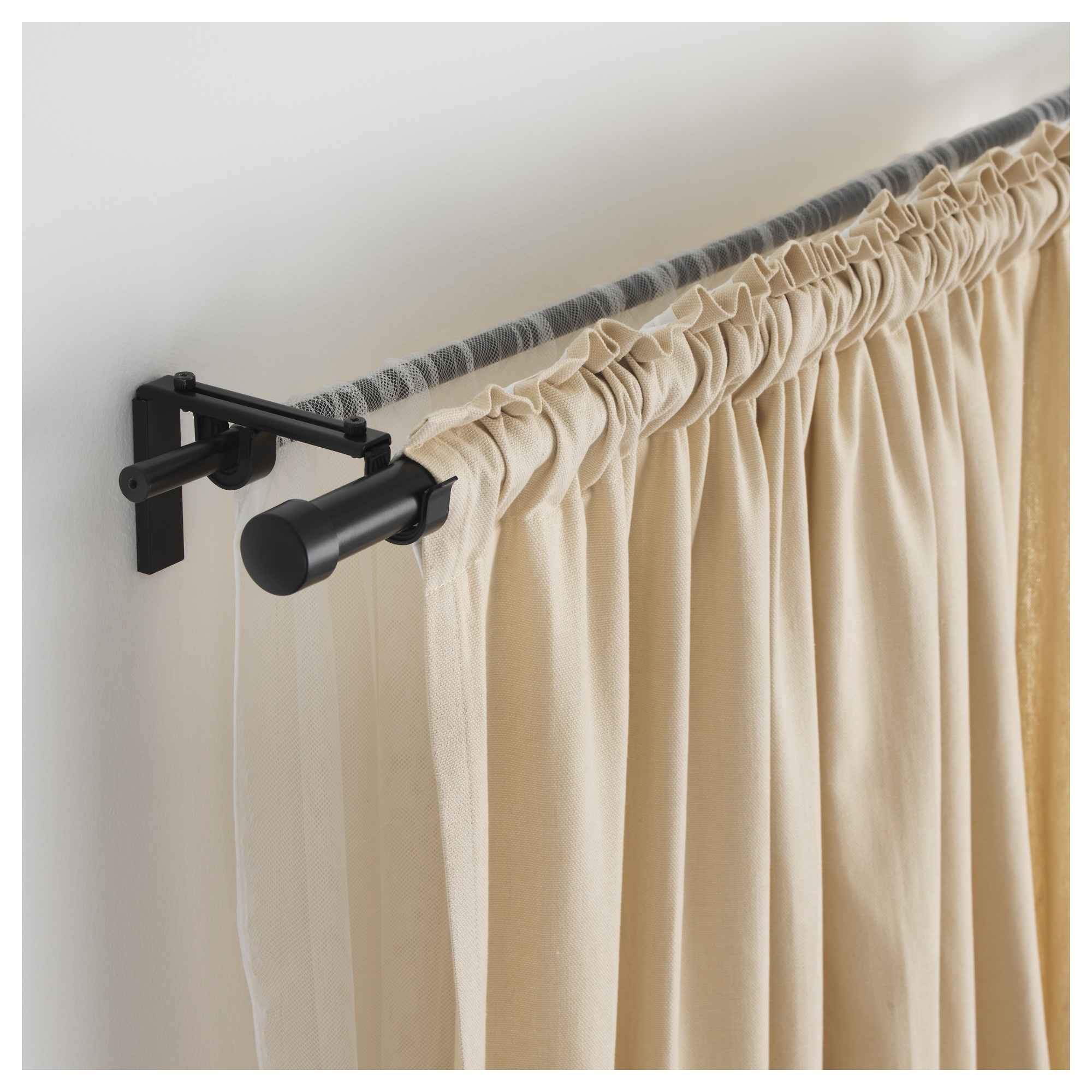 RÄCKA / HUGAD Double curtain rod combination - IKEA