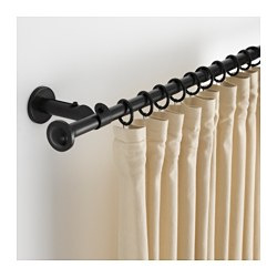 STORSLAGEN curtain rod set, black