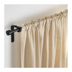 RÄCKA, Curtain rod, black