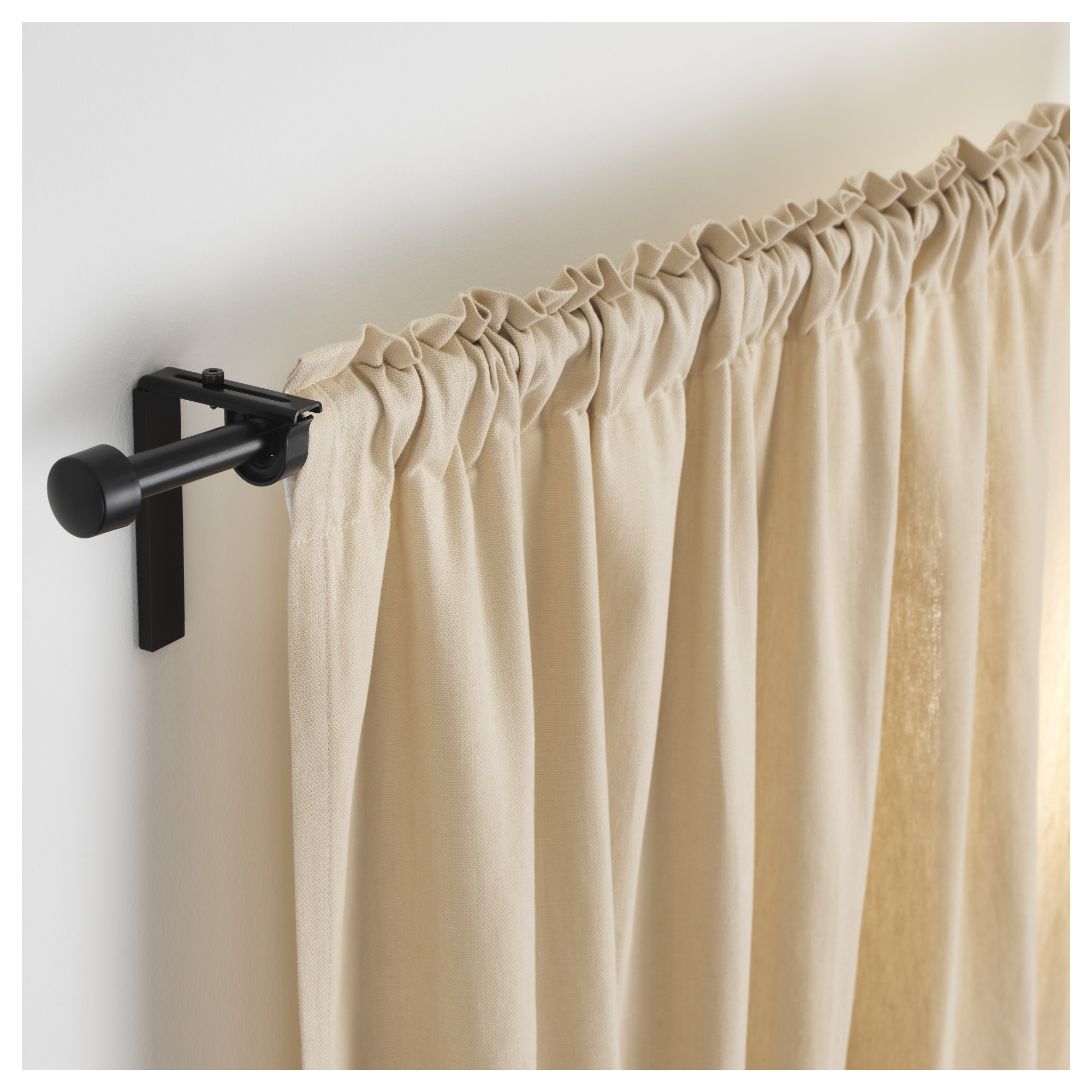 Mini curtain rods - R Cka Curtain Rod Combination Black Min Length 47 1 4 Max