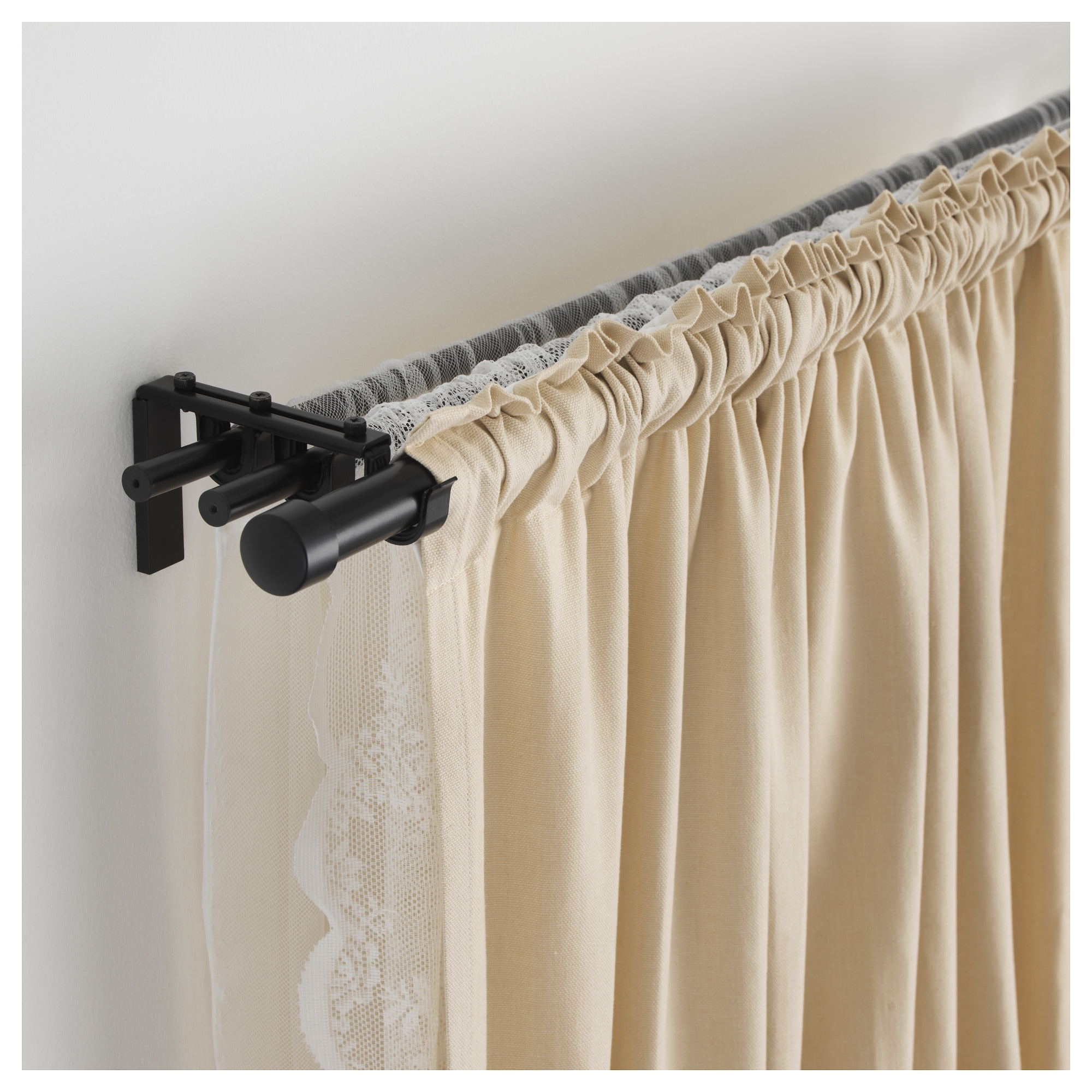 inches rods tension drop double ruffled ideas for inch rod by best decor burnt decorating curtain tips curtains cloth
