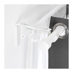 BETYDLIG curtain rod holder, white Length: 60 mm