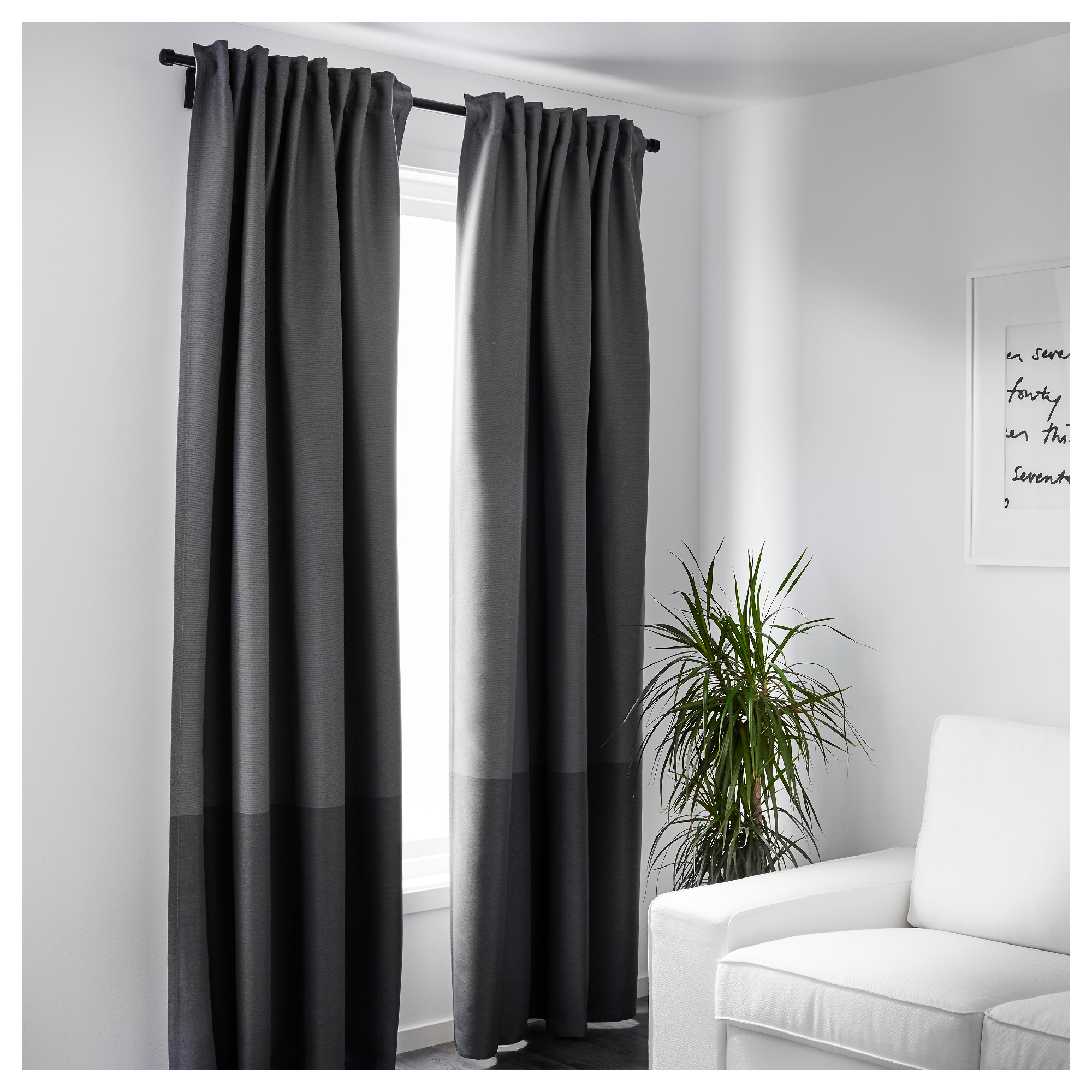 Marjun Blackout Curtains Pair Ikea