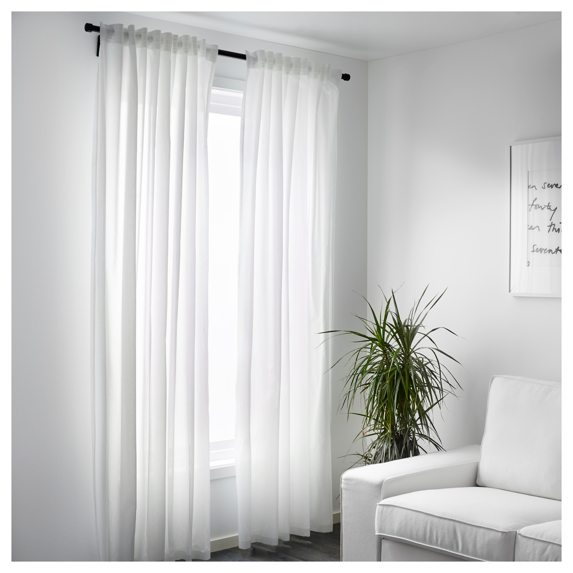 White curtain panels - White Curtain Panels 3