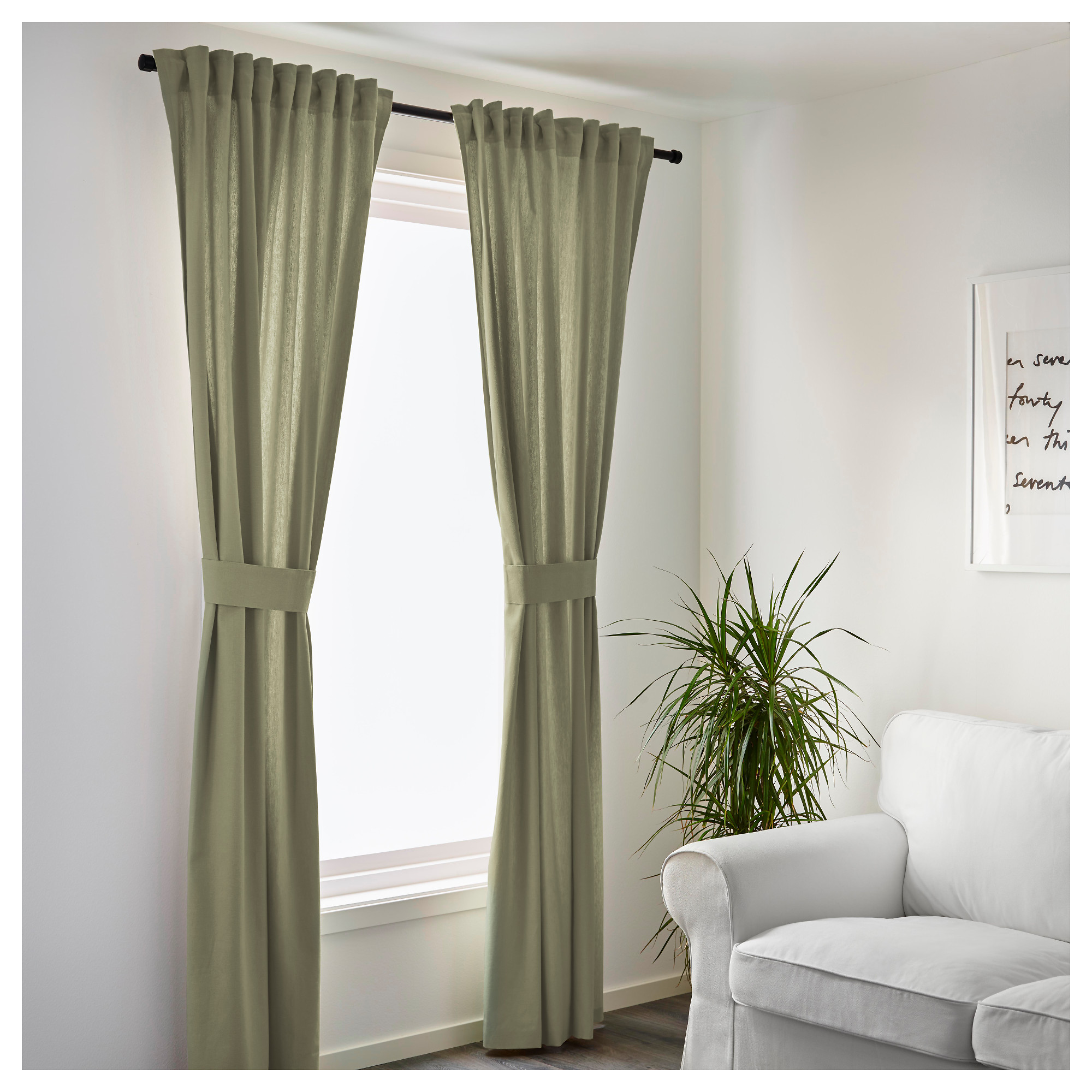 Ikea Living Room Curtains Ingert Curtains With Tie Backs 1 Pair Ikea
