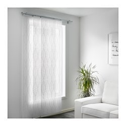 Grynet Panel Curtain White