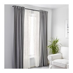 ALVINE SPETS Lace Curtains 1 Pair Off White