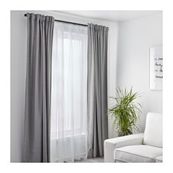 Teresia Sheer Curtains 1 Pair White