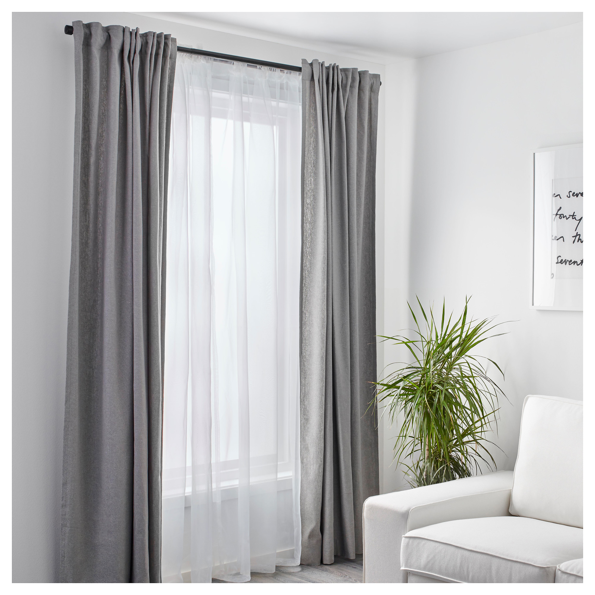 TERESIA Sheer Curtains, 1 Pair   IKEA Part 60
