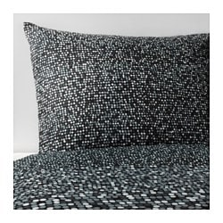 "SMÖRBOLL duvet cover and pillowcase(s), gray Thread count: 144 square inches Duvet cover length: 86 "" Duvet cover width: 86 "" Thread count: 144 square inches Duvet cover length: 218 cm Duvet cover width: 218 cm"
