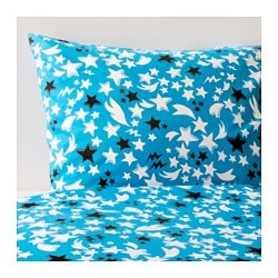 SOLBRUD quilt cover and pillowcase, blue Pillowcase quantity: 1 pack Quilt cover length: 200 cm Quilt cover width: 150 cm