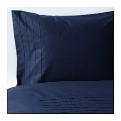 ALVINE STRÅ quilt cover and pillowcase, blue Quilt cover length: 200 cm Quilt cover width: 150 cm Pillowcase length: 50 cm