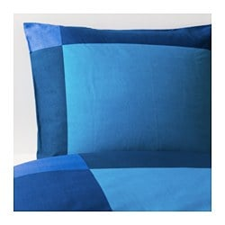 BRUNKRISSLA quilt cover and pillowcase, blue Quilt cover length: 200 cm Quilt cover width: 150 cm Pillowcase length: 50 cm