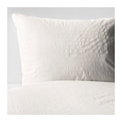 OFELIA VASS quilt cover and pillowcase, white