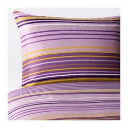 "PALMLILJA duvet cover and pillowcase(s), lilac Thread count: 207 square inches Duvet cover length: 86 "" Duvet cover width: 86 "" Thread count: 207 square inches Duvet cover length: 218 cm Duvet cover width: 218 cm"